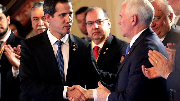 Guaidó encontrou-se com Pence à margem da reunião do Grupo de Lima