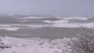 Brutális szélvihar a Nagy-tavaknál
