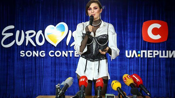 La cantante ucraniana Anna Korsun en Kiev, Ucrania. 23 de febrero, 2019.