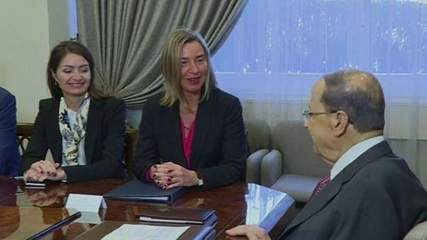 الرئيس عون و فريدريكا موغيريني