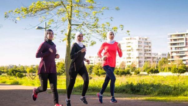 حجاب ورزشی دکتلون/ عکس از فیلم تبلیغاتی