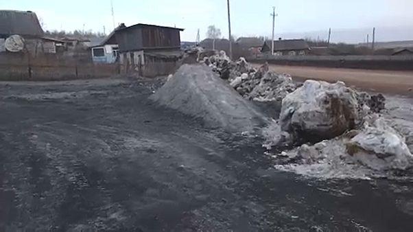 Fekete hó hullott Szibériában, és áprilisig meg is marad