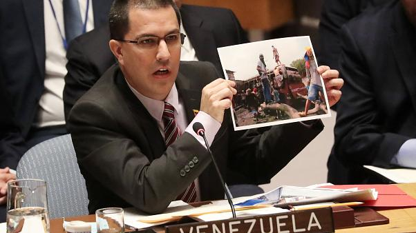 Venezuela Minister of Foreign Affairs Jorge Arreaza at the UNSC