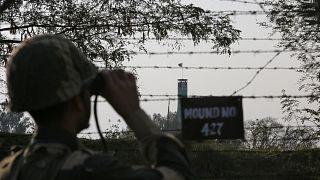 Un soldat des forces de sécurité des frontières indiennes (BSF)