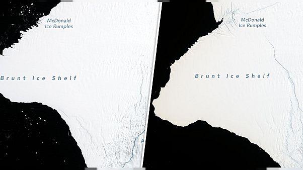 جبل جليدي ضعف حجم نيويورك على وشك الانفصال عن القطب الجنوبي