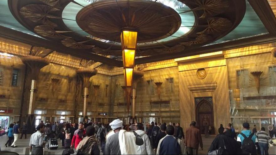 Dozens killed and injured in crash and fire at Cairo's main railway station