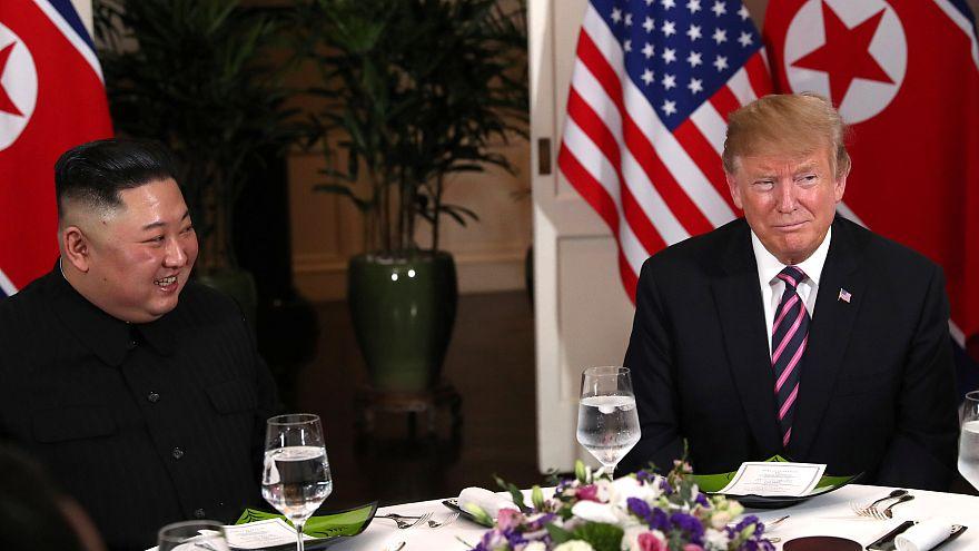 Watch: Trump and Kim meet in Vietnam for historic summit