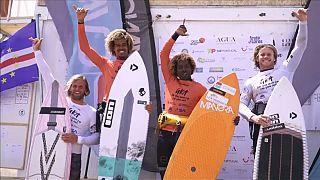 Mitu Monteiro lidera prova de kitesurf em Cabo Verde
