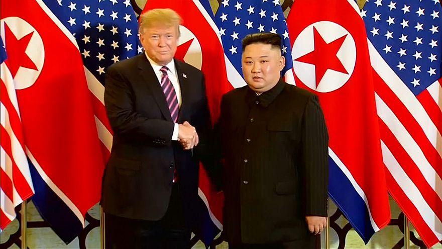Trump elogia primeiro dia de cimeira com Kim Jong-Un