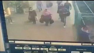 صورة من كاميرات المراقبة بالمحطة قبيل وقوع الحادث