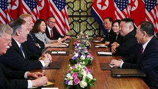 Kim Jong Un meets Donald Trump