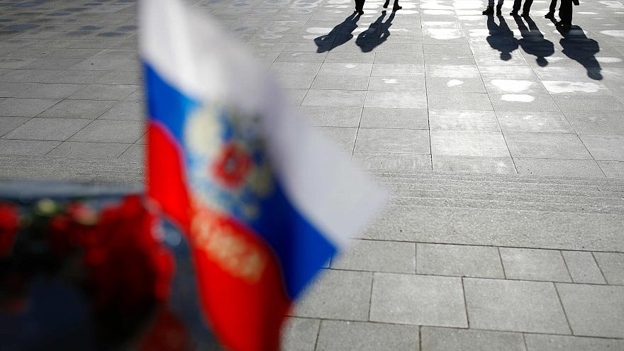A file photo of a Russian flag