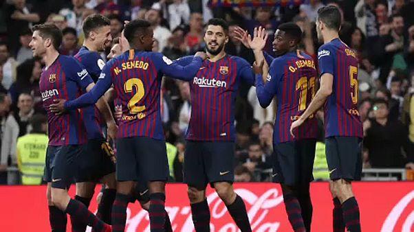Coppa del Re: cinico Barcellona asfalta il Real al Bernabeu