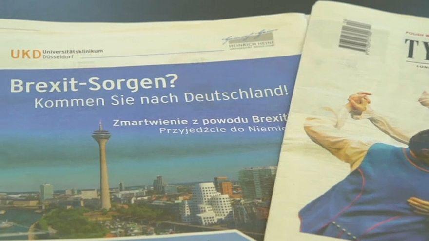 """Werbeaktion: """"Brexit-Sorgen? Kommen Sie nach Deutschland!"""""""