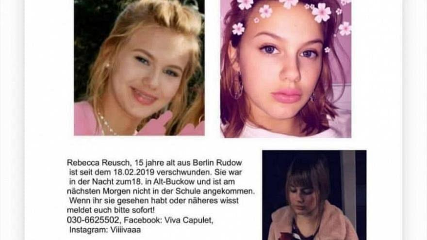 Polizei Berlin bestätigt Festnahme im Fall der vermissten Rebecca (15)