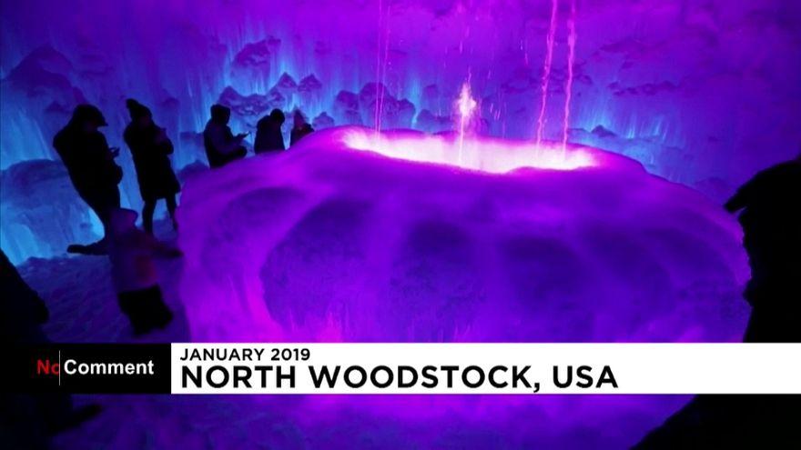 USA: il castello di ghiaccio del New Hampshire