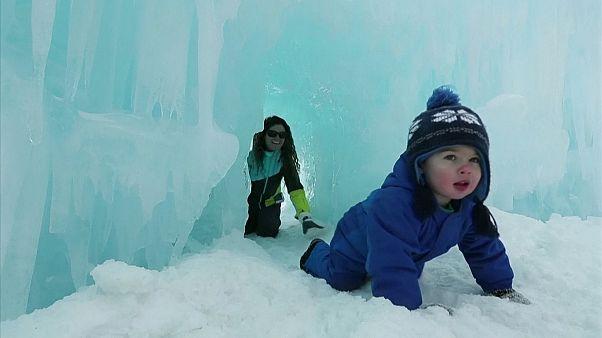Ледяной дворец в Нью-Гэмпшире