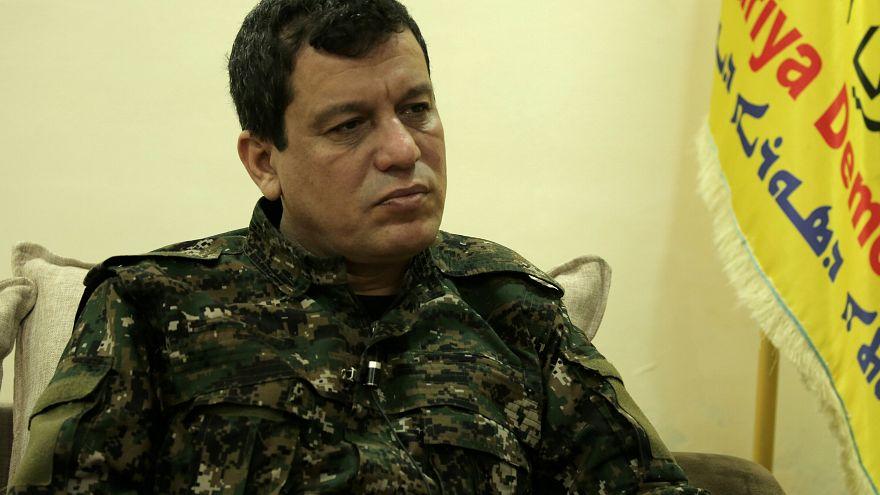 القائد العام لقوات سوريا الديمقراطية مظلوم كوباني خلال مقابلة مع رويترز