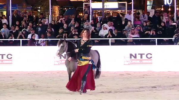 من مهرجان الخيول في السعودية