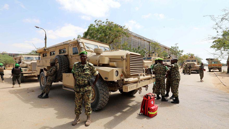 عناصر من بعثة الاتحاد الأفريقي إلى الصومال