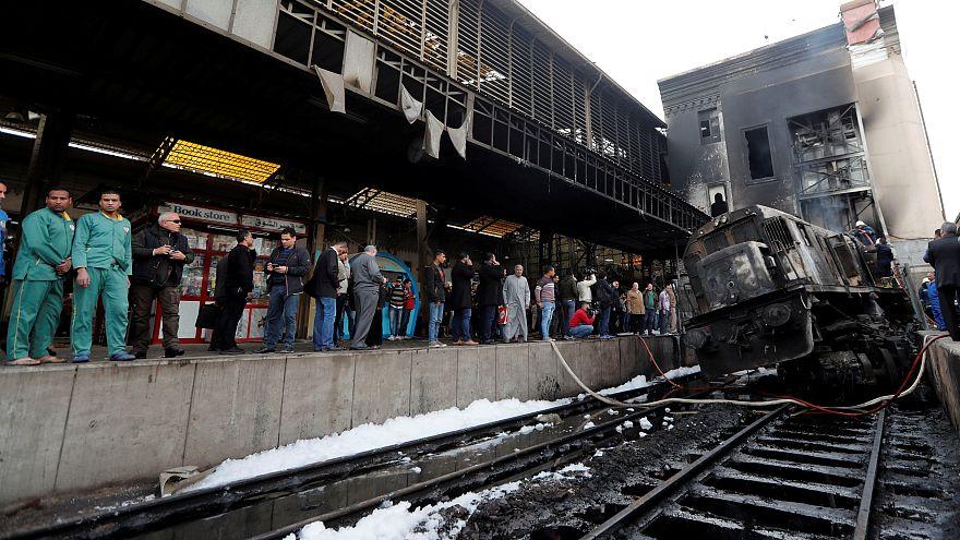 حبس 6 أشخاص على ذمة التحقيق في حادث تصادم وحريق بمحطة رمسيس