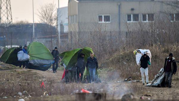 پناهجویان آواره در منطقه کاله در غرب فرانسه