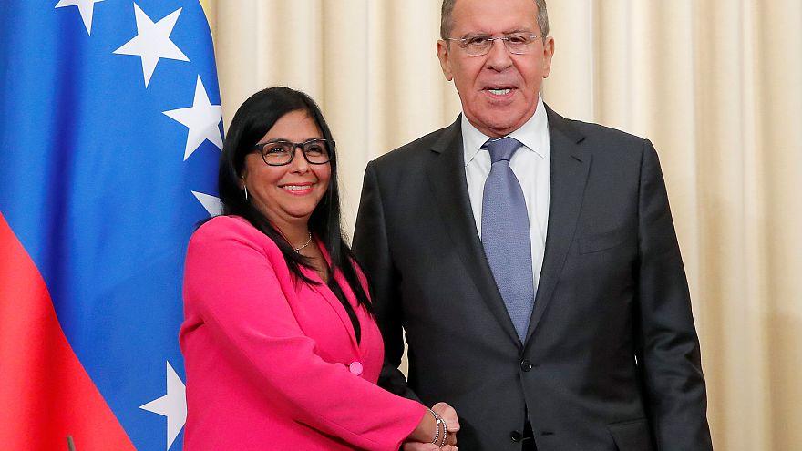 Delcy Rodríguez y el Ministro de Relaciones Exteriores ruso Sergei Lavrov