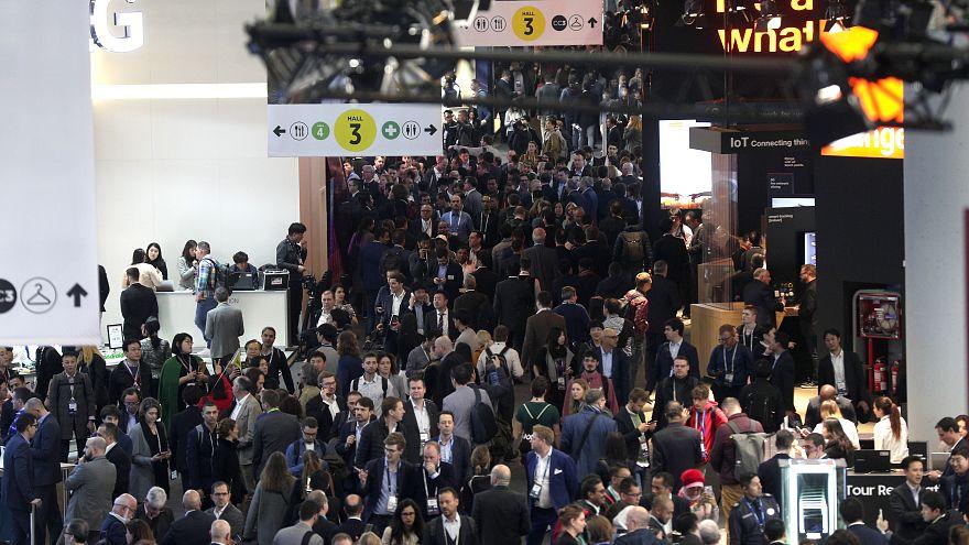 Mobile World Congress. Barcelona, España. 25 de febrero, 2019.