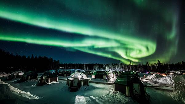 Naturschauspiel: Nordlichter über Lappland