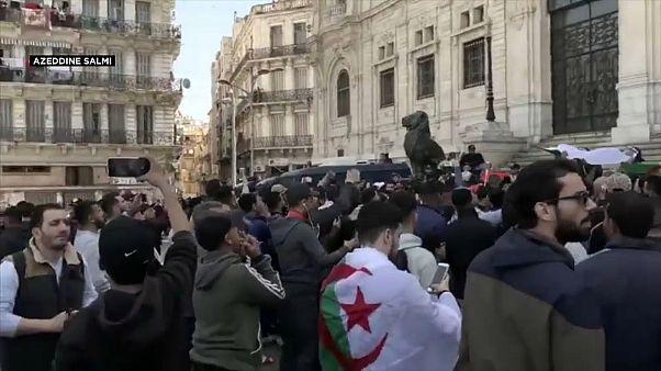 متظاهرون في العاصمة الجزائر