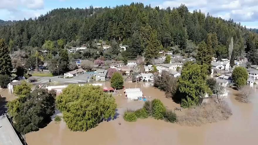 California communities stranded by floodwaters