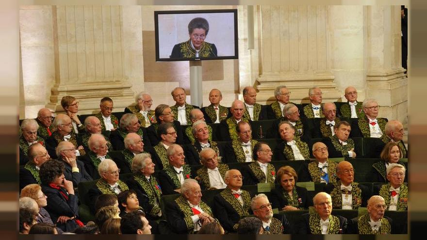 Members of the French Academy listen to French politician Simone Veil, 2010