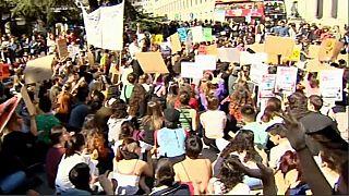 Estudiantes españoles se unen al movimiento contra el cambio climático