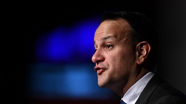 Leo Varadkar speaks at a European Financial Forum event in Dublin, Ireland