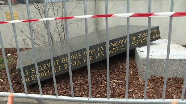 Jewish memorial stone vandalised in Strasbourg