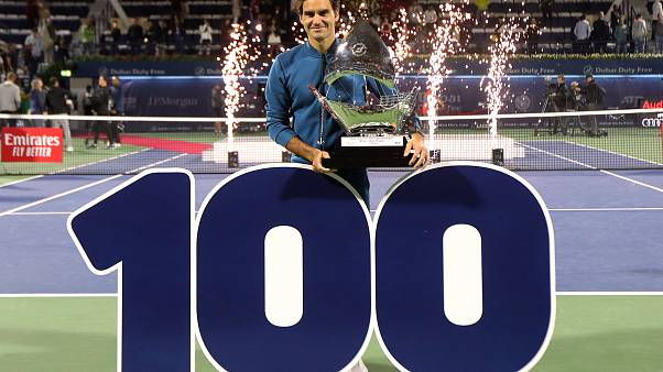 Watch: Roger Federer claims 100th career ATP title in Dubai