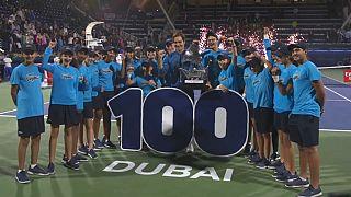 Roger Federer conquistou o centésimo título da carreira.