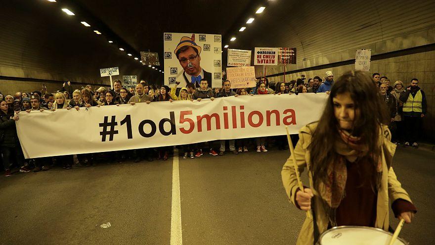 Протесты в Сербии: 13-я попытка