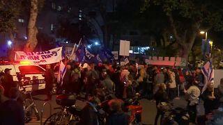 هواداران و مخالفان نتانیاهو در خیابانهای تل آویو به هم رسیدند