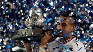 Kyrgios vence a Zverev y gana el torneo de Acapulco