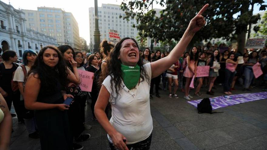 Women's rights activist in Chile, 2018