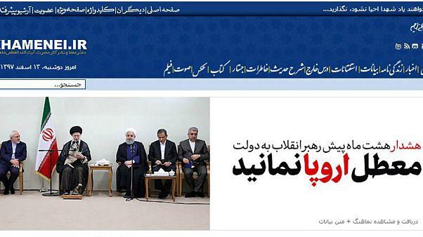 سایت رهبر جمهوری اسلامی سخنان هشت ماه پیش او با دولت را بازنشر کرد: معطل اروپا نمانید
