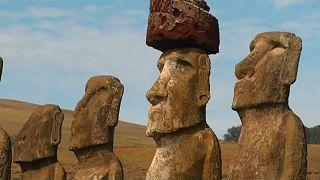 "Osterinsel: Die Moai-Skulpturen haben ""Lepra"""