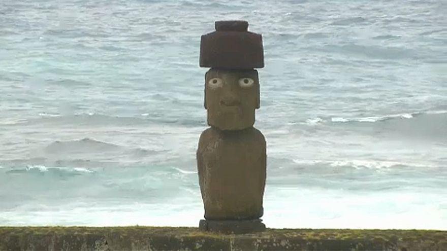 Erosão ameaça estátuas da Ilha da Páscoa