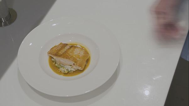Michelin starred chef Gary Rhodes shares his Pan-Fried Salmon and Spring Risotto recipe