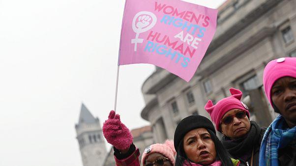Tercera Marcha Anual de Mujeres en Washington, EE.UU. 19 de enero de 2019.