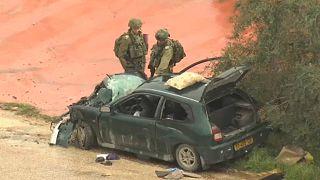 Palesztin autós támadás izraeli katonák ellen