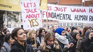 Protesters campaign in Denmark