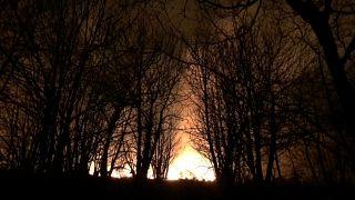 Decenas de incendios siguen activos en Asturias