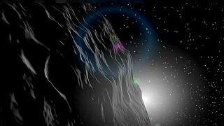Artist rendition of the asteroid Vesta
